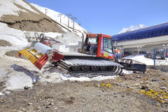 Dombay. Snowcat on a slope Stock Photo
