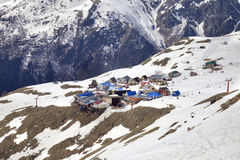 Dombay. The village is on the slope of Mount Mussa-Achitara stock images