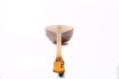 Dombra del instrumento del Kazakh y taikazan nacionales Imagenes de archivo