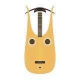 Dombra gitary ikony nawleczonego instrumentu muzycznego orkiestry sztuki klasycznego dźwięka narzędziowej i akustycznej symfoni n ilustracja wektor