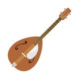 Dombra guitar icon stringed musical instrument classical orchestra art sound tool and acoustic symphony stringed fiddle Stock Image