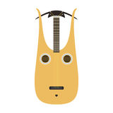 Dombra guitar icon stringed musical instrument classical orchestra art sound tool and acoustic symphony stringed fiddle vector illustration
