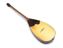 Dombra - national music instrument of nomad. Isolated on white Stock Photography