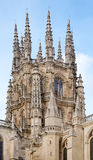 Dome. Outside of the dome of the Cathedral of Burgos Royalty Free Stock Image