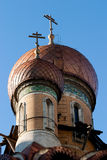 Dome. The Russian church dome from Bucharest royalty free stock photo