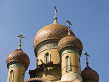 Dome. The Russian church dome from Bucharest center Royalty Free Stock Image