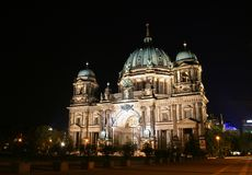 Dome. Berliner dome at night, germany Royalty Free Stock Image