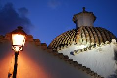 Dome. Of the church of Santo Domingo, in the walled city of Ibiza. Has been declared World Heritage by UNESCO stock photography