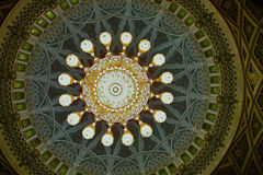 Dome. The Dome of the Sultan Qaboos Moschee Oman in 2010 Stock Images