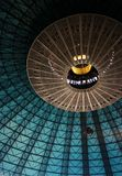 Dome. Turquoise colored inside of a dome Royalty Free Stock Photography