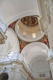 Dome. In the baroque cathedral of noto Royalty Free Stock Photos