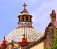 Dome. Of a church of the city of queretaro, mexico Stock Image