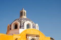 Dome. Talavera dome of a church in Tlaxcala México Stock Photo