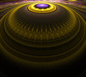 Dome. 3D Fractal resembling tiered dome Stock Photo