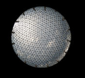 Dome. Blue dome isolated over black royalty free stock photo