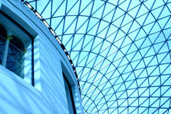Dome. Blue dome with blue windows Stock Photography
