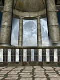 Dome. And balcony in a fantasy temple Royalty Free Stock Images