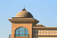 Dome. Close up of a dome over blue sky stock photography