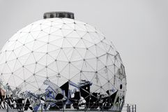 Dome abandoned spy station Royalty Free Stock Images