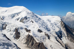 Dome and Aiguille du Gouter Royalty Free Stock Images