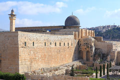 The dome of the Al-Aqsa Mosque Royalty Free Stock Photos