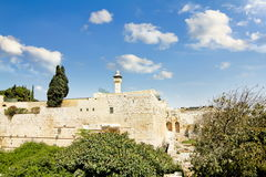 The dome of the Al-Aqsa Mosque on the Temple Mount Stock Photography