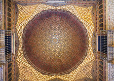 Dome in Alcazar palace Royalty Free Stock Image