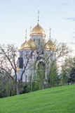 The dome of All Saints Church on Mamayev Kurgan. Volgograd Royalty Free Stock Photos
