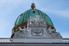 Dome of Alte Burg, Vienna Stock Images