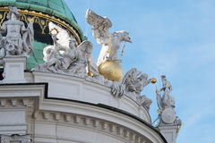 Dome of Alte Burg, Vienna Stock Image