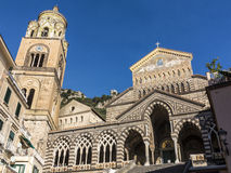 Dome of Amalfi, Italy. Saint Andrew cathedral or Cattedrale di S.Andrea in Amalfi covered with Byzantine mosaics, Amalfi, Sorrentine Peninsula of Italy Royalty Free Stock Photos