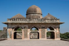 Dome of Ancient Building in Mandav District Madhya Pradesh India stock images