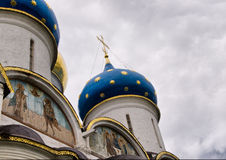 The dome of the ancient cathedral Stock Photography