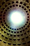 Dome of the ancient roman temple of all gods - pantheon stock photos