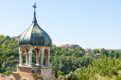 The dome of an ancient temple on the old Lovech in Bulgaria stock image