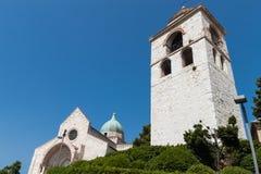 Dome of Ancona. San Ciriaco church, dome of Ancona Stock Photo