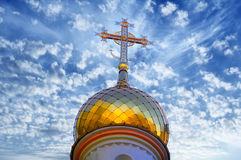 Dome And Cross On The Orthodox Church Stock Photography