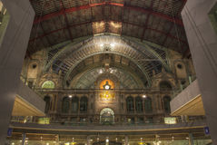 Dome of Antwerp station Royalty Free Stock Photography
