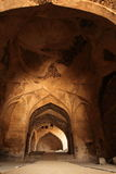 Dome and arches at Golkonda Fort, Hyderabad Stock Images