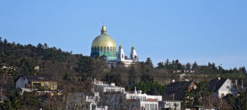 Dome of the art nouveau church at Steinhof, Vienna Stock Photo