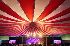 Dome, awning circus royalty free stock photos