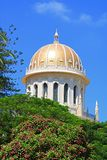 Dome of the Bab Shrine on the slopes of the Carmel Mountain, Haifa city, Israel. Dome of the Bab Shrine on the slopes of the Carmel Mountain in Haifa city royalty free stock photography