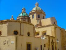 San Francesco. Dome of the baroque church of San Francesco d`Assisi in Trapani, Sicily, Italy royalty free stock photo