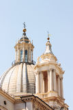 Dome in a Baroque taste. Royalty Free Stock Images