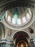 Dome in the Basilic of Esztergom stock photos