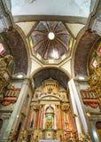 Dome Basilica Altar Santo Domingo Church Mexico City Mexico. Church first built in the 1500s stock image