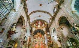 Dome Basilica Altar Santo Domingo Church Mexico City Mexico. Church first built in the 1500s stock photo