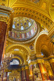 Dome Basilica Arch Saint Stephens Cathedral Budapest Hungary. Dome God Christ Basilica Arch Saint Stephens Cathedral Budapest Hungary.  Saint Stephens named Royalty Free Stock Photography