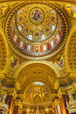 Dome Basilica Arch Saint Stephens Cathedral Budapest Hungary. Dome God Christ Basilica Arch Saint Stephens Cathedral Budapest Hungary.  Saint Stephens named Stock Photo