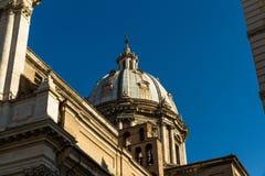 Dome of the basilica di sant`andrea delle fratte Stock Photos